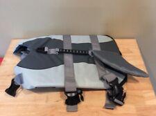 Dog Life Jacket, Ripstop Life Vest, Medium Gray Shark Design