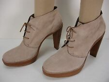 COLE HAAN NIKE AIR PLATFORMS SUEDE LACE FRONT BOOTIES ANKLE BOOTS WOMEN'S 11