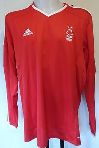 NOTTINGHAM FOREST 2014-15 L/S HOME SHIRT BY ADIDAS SIZE MEN'S XXL BRAND NEW