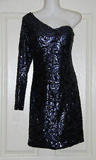 Womens size 4 (AU 8) one shouldered sequined cocktail dress by MATT C for GASP