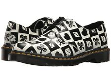 Dr. Martens Women's 1461 Egret Playing Card Print Repeat Backhand ALL SIZES!!