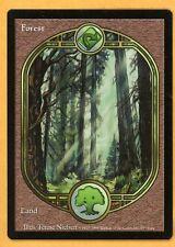 Vintage Magic | MTG Unglued Forest Full Artwork Basic Land | NM/Mint UNPLAYED