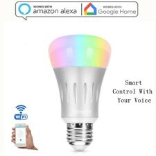Smart LED light Bulb Wi-Fi RGB Multi Color Dimmable Works with Alexa Google Home