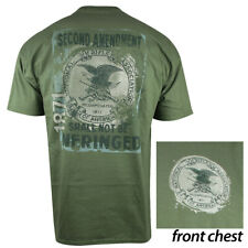 NRA Defense Stamp T-Shirt (2X)- Military Green