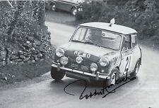Paddy Hopkirk Hand Signed 12x8 Photo Mini Cooper Rally 20.