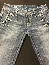 Sang Real Jeans Womens Sz.26x32 Cotton Bl-Med. Blue/Flare