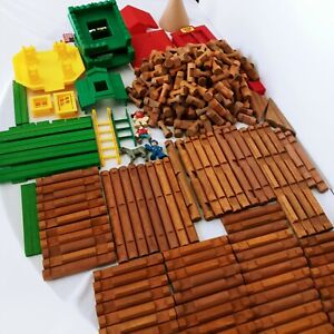 Lincoln Logs Giant 356 Piece Lot Roofs Ladders People Different Pieces