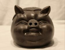 China Yixing Zisha Hand-Carved  Pig Shape Bank with Stopper