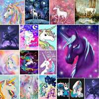 5D Diamond Painting Full Drill Embroidery Crafts Kits Cartoon Unicorn Decors