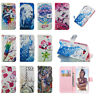 3D Painted Flip stand Card Leather wallet+TPU Case Cover For Samsung J1 J3 J5 J7