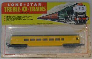 Lone Star Treble-O-Trains N Gauge 70 Yellow US Passenger Coach