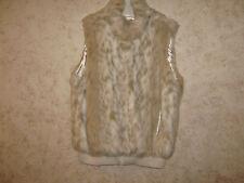 Coldwater Creek White Faux Fur Jacket Vest Plus 2X 20-22 Excellent Condition!