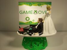 GAME OVER X Bride & Groom FUNNY Wedding CAKE TOPPER Video GAMER Groom's Cake