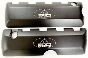 Ford Mustang 5.0 Black Coil Covers, Powder Coated, COYOTE HEAD, 2011-17