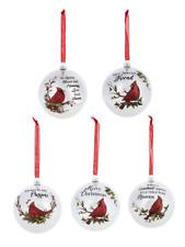 Ganz Christmas Cardinal Ornament Select Drop Down. Free Ship USA