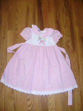 GOOD LAD GIRLS DRESS size 4T PINK WHITE FLORAL CHECKES STUNNING