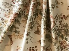 Vintage Crowson 'Hedgerow' Ivory Cotton Russet, Gold & Green Floral FQ