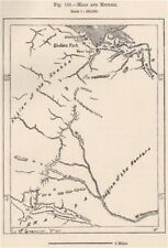 M'zab y metlili. Ghardaïa, Argelia 1885 cuadro de plan de Mapa Antiguo Vintage Antiguo