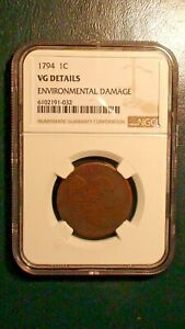 1794 LIBERTY CAP Large Cent NGC VERY GOOD Details 1C Penny Coin PRICED TO SELL!