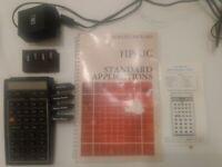 Hewleyt-Packard HP-41C Calculator 3 Memory Module & Manual. Not working.