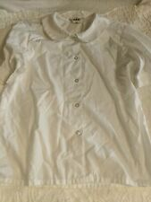 School Apparel girls sz. 12 white short sleeved classic Peter Pan blouse. Great