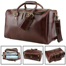Men's Luxury Leather Travel Weekend Luggage Duffle Gym Messenger Bags Suitcases