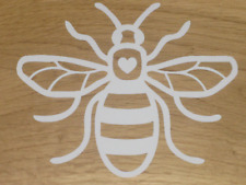 Manchester Bee Car Bin Sticker Bodywork Dustbin White 160 x 130 vinyl decal hw3