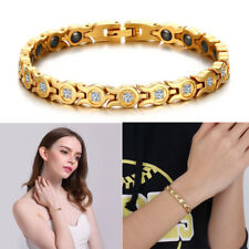 Women Health Magnet Therapy Bracelet Energy Crystal Chain Arthritis Relief Gift