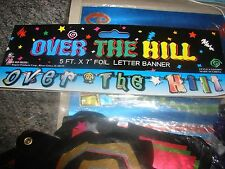 """Over the Hill Birthday 5 FT. X 7"""" FOIL LETTER BANNER Party Decorations & Supplie"""