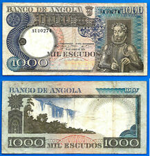 Angola 1000 Escudos 1973 Africa Banknote Camoes FREE Shipping Worldwide Paypal