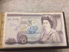 British Bank Of England £20 Twenty Pound Banknotes