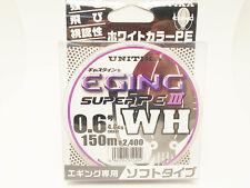 UNITIKA CASLINE EGING SUPER PE3 WH #0.6(4.8kg)-150m Made in Japan EP-100g