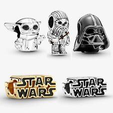 Brand New Sterling Silver 925 Pandora Star Wars Charm Baby Yoda Daft Vader