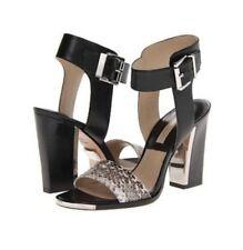 New Michael Kors Carson Women's Genuine Snake/Vachetta Sandals Heels Size 9