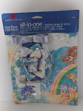 Care Bear Cousins Gift Wrap American Greetings All in One bow card ribbon sheet