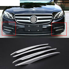 4pcs ABS Chrome Front Grille Fog Lamp Cover Trims For Mercedes Benz E Class W213