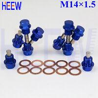 M14 X 1.25 OIL PAN DRAIN PLUG BOLT ENGINE MAGNETIC WITH CRUSH KIT Suzuki Dirt