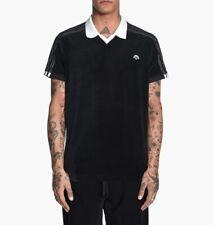 Alexander Wang x Camisa Polo De Terciopelo Negro Adidas Originals-Nuevo sin etiquetas