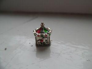Genuine CHAMILIA 925 sterling silver & enamel Christmas CAROUSEL charm.