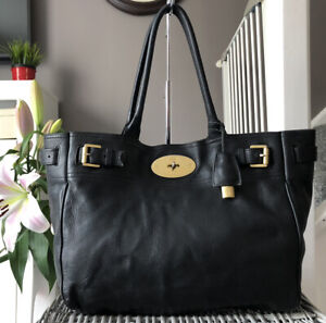 Lovely Genuine Mulberry Bayswater Tote Bag , Handbag Black Leather