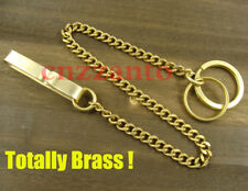 Totally Solid Brass belt clip pants key wallet chain ring hook fob wallet H234