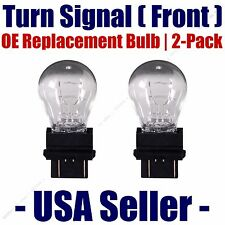 Front Turn Signal Light Bulb 2pk Fits Listed Land Rover Vehicles 3457K/3357K