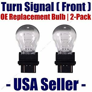 Front Turn Signal Light Bulb 2pk Fits Listed Land Rover Vehicles - 3457/3357