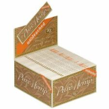 Smoking Rolling Paper Pure Hemp Unlbleached King Size Box of 50 Booklets