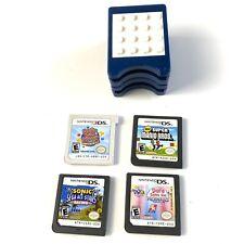Nintendo DS Lot 5 Games & LEGO Holder, Dora the Explorer, Sonic, Mario, Bust A
