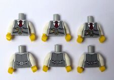 Lego 6 Torso Body For Minifigure Figure Grey Waistcoat Groom Wedding Best Man