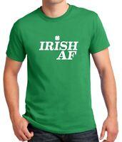 Irish AF Shirt Green Clover T-Shirt Shamrock Saint Patrick's Day Tee St Paddys