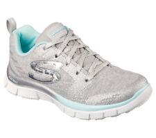 NEW SKECHERS Girls Sneakers Memory Foam SKECH APPEAL-GLIMMERAMA Silver/Grey