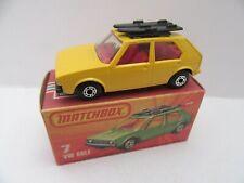 Matchbox Superfast 7c VW Golf - Yellow w/Black Base - Mint/Boxed