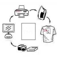 10x/set A4 Heat Transfer Paper for DIY T-Shirt Iron-On Paper Light Fabric-Cloth/
